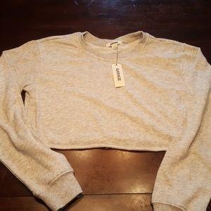 Gray cropped sweatshirt Garage, small